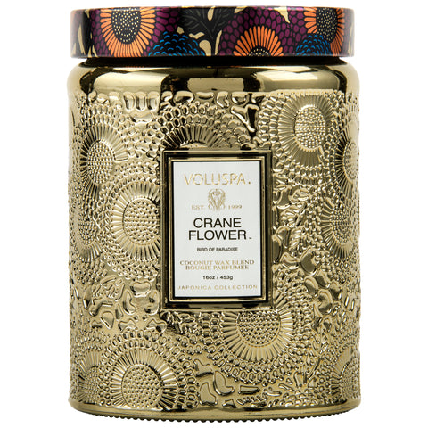 Crane Flower - Large Jar Candle