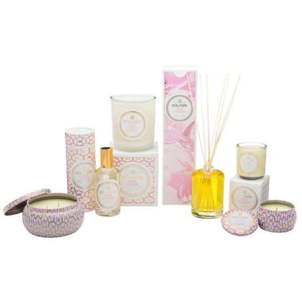 Pink Citron - 2 Wick Maison Tin Candle - 4