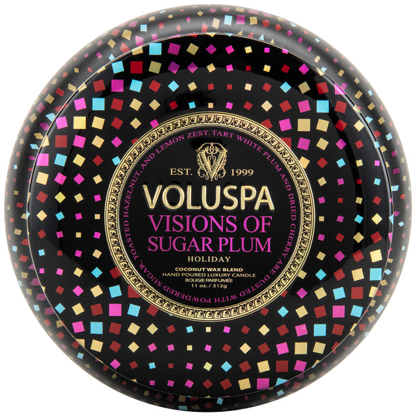 Visions of Sugar Plum - 2 Wick Maison Tin Candle - 1