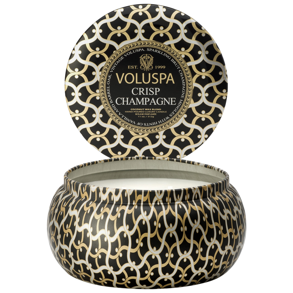 Crisp Champagne - 2 Wick Maison Tin Candle - 2