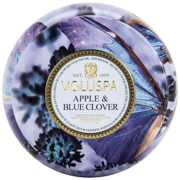 Apple Blue Clover - 2 Wick Maison Tin Candle - 1