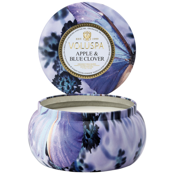 Apple Blue Clover - 2 Wick Maison Tin Candle - 2