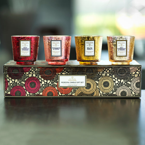 Warm Tones - Pedestal 4 Candle Gift Set - 2