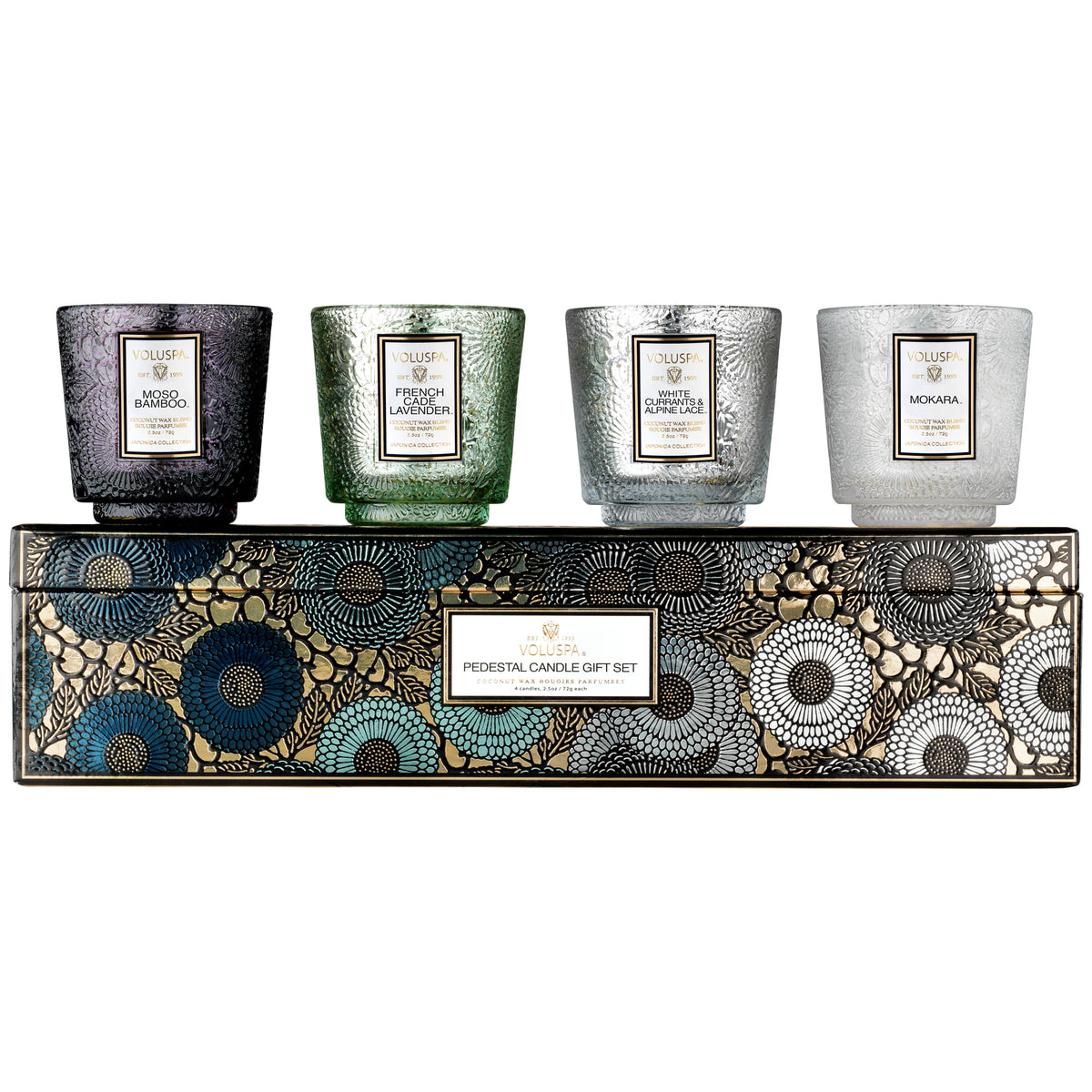 Cool Tones - Pedestal 4 Candle Gift Set - 1