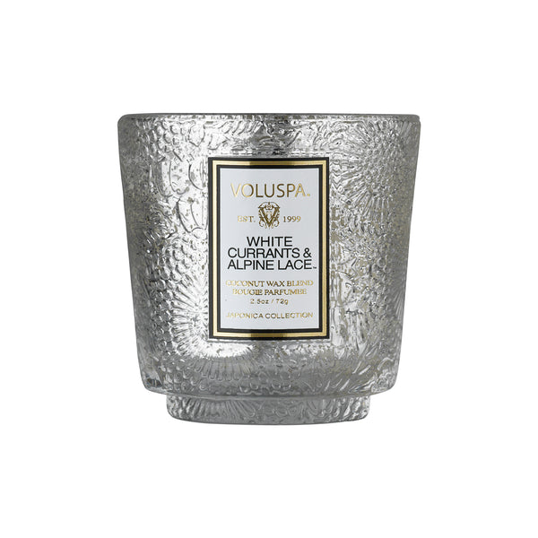 White Currants & Alpine Lace - Seasonal Petite Pedestal Candle - 1