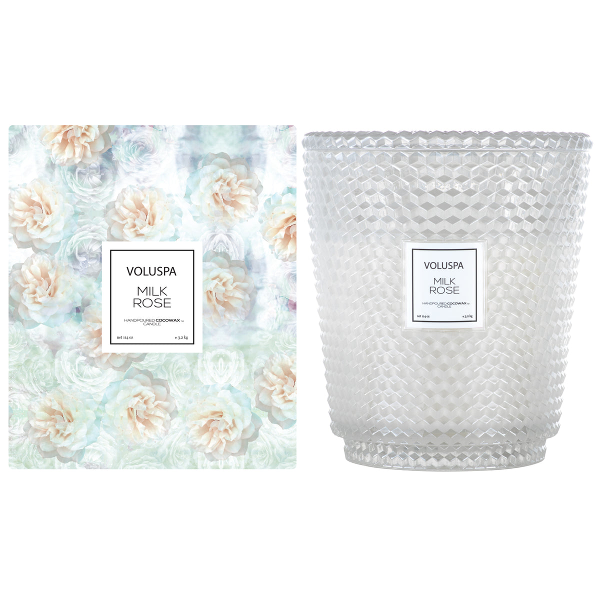 Milk Rose - 5 Wick Hearth Candle - 2