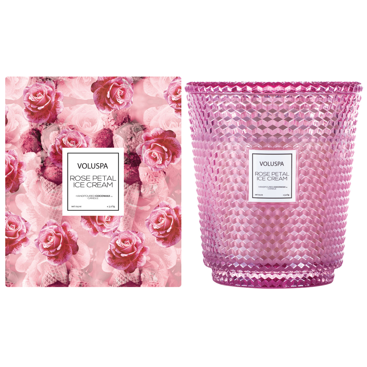 Rose Petal Ice Cream - 5 Wick Hearth Candle - 2