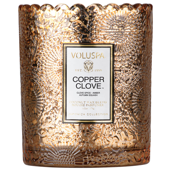 Copper Clove - Seasonal Scalloped Edge Candle - 2