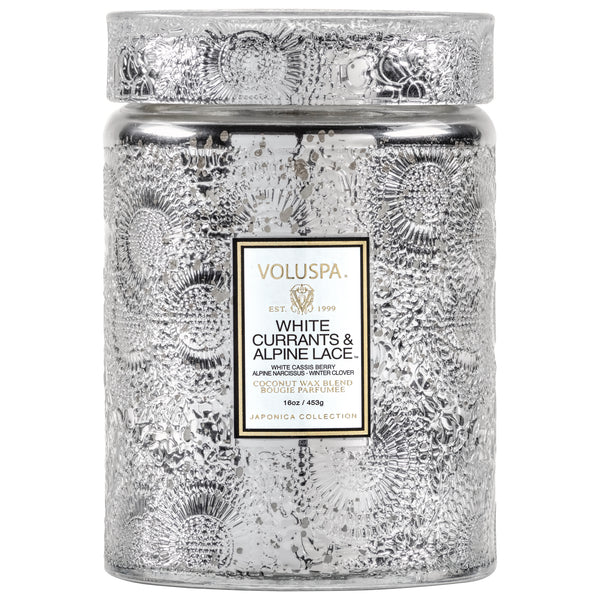 White Currants & Alpine Lace - Large Jar Candle - 1