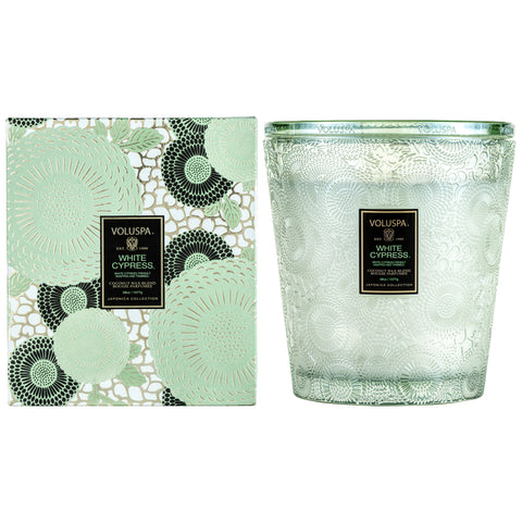 White Cypress - 3 Wick Hearth Candle