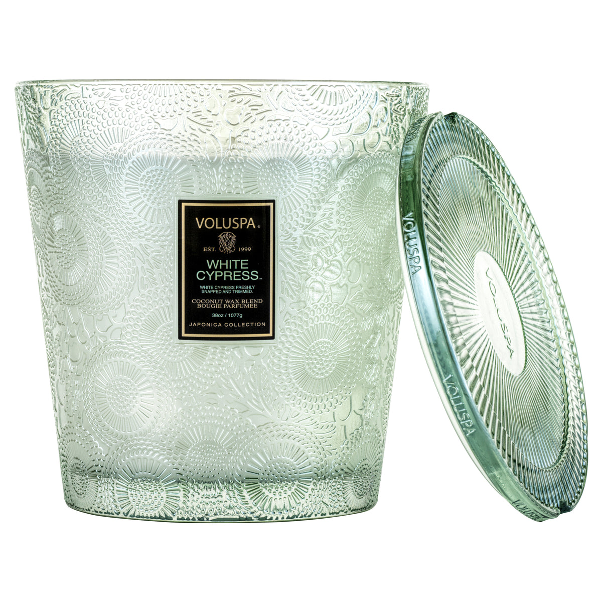 White Cypress - 3 Wick Hearth Candle - 1