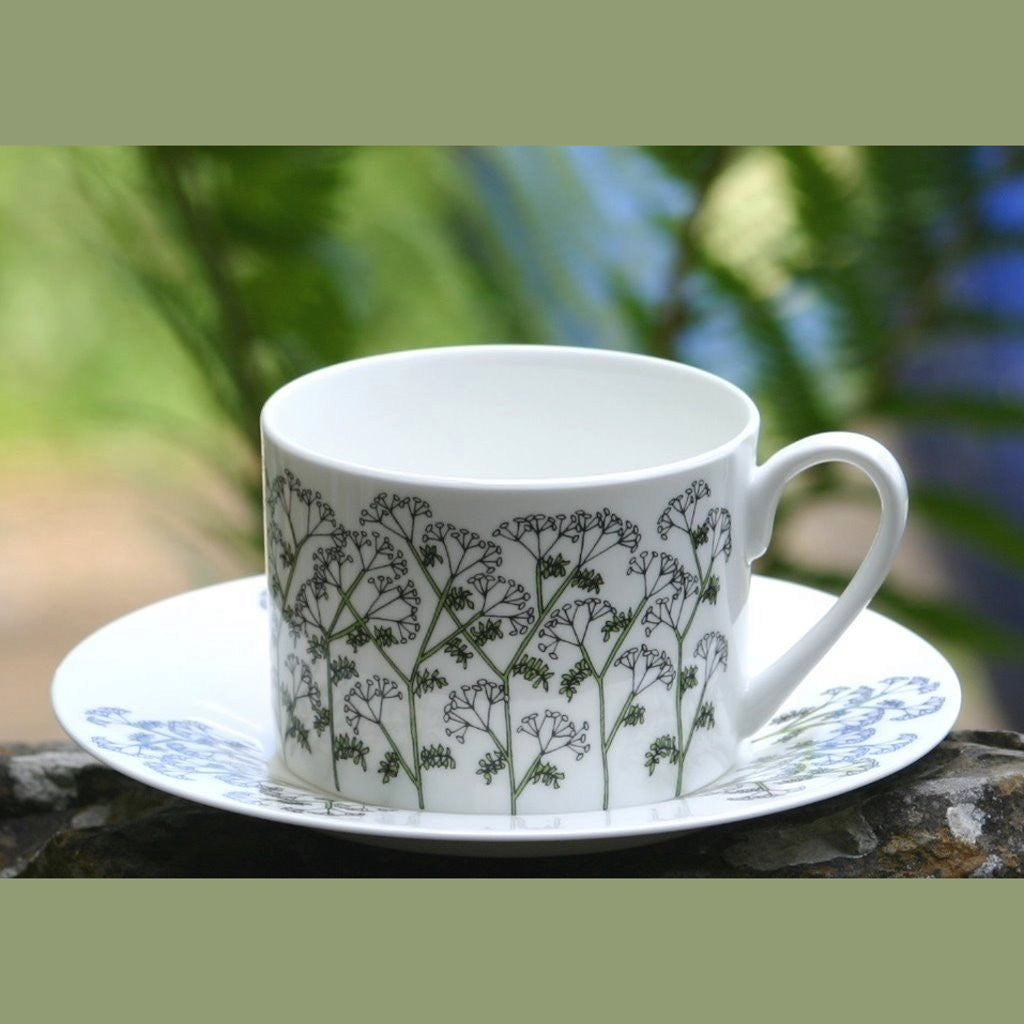wiggles and florence Cow Parsley cup & saucer