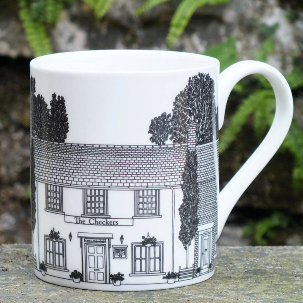 The Checkers street scene Mug