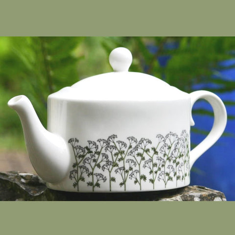 Cow Parsley oval Tea Pot