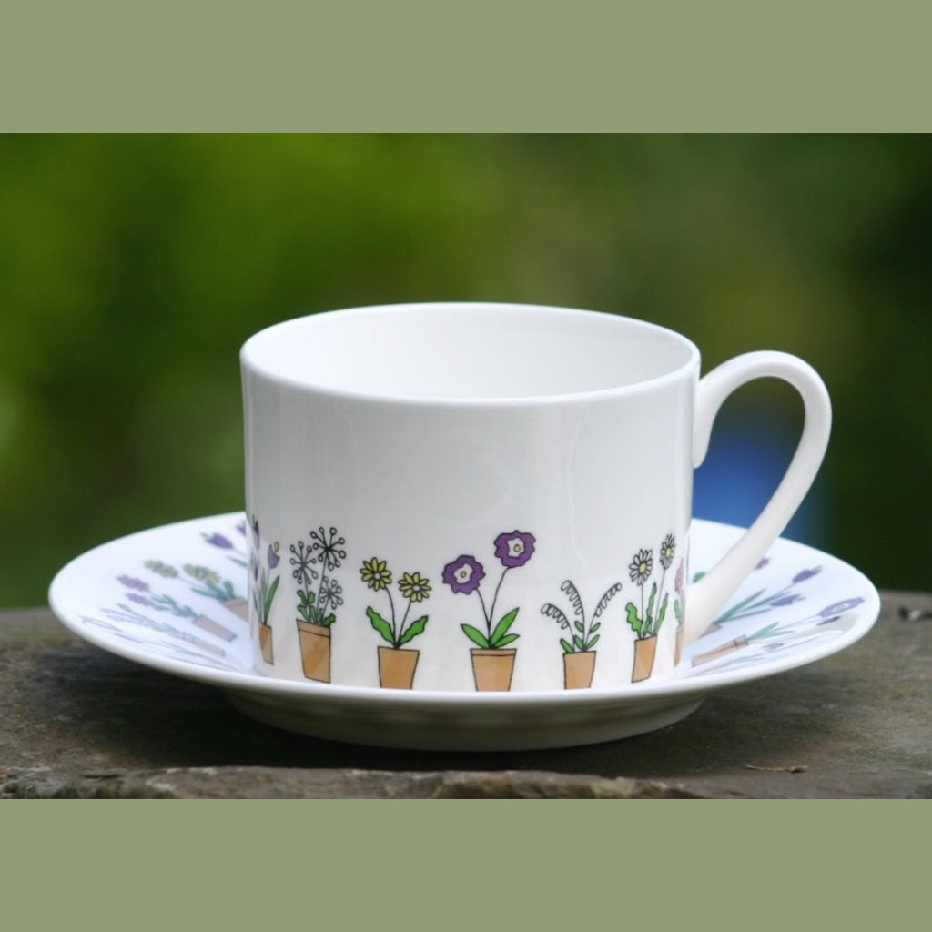 wiggles and florence Flower Pots cup & saucer