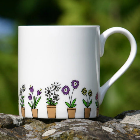 Flower Pots multi Mug