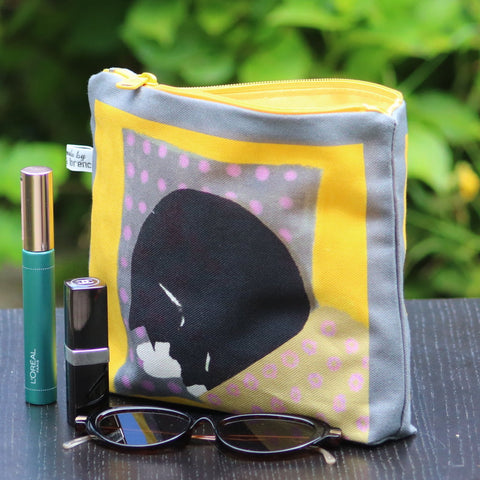 Makeup - Personal Bag: sleeping cat grey/yellow