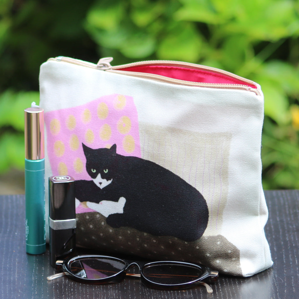 Makeup / Personal Bag: resting cat pink/natural