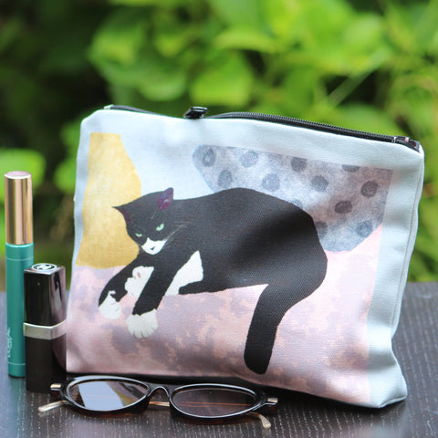 Makeup - Personal Bag: resting cat pink/grey