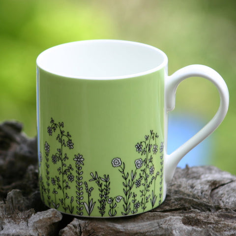 Border Mug - pale lime