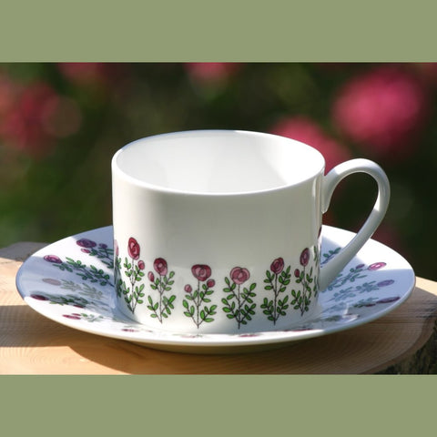 Roses Cup & Saucer