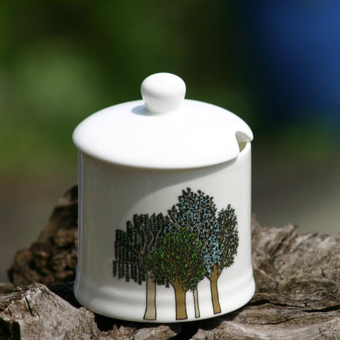 Trees Sugar/Jam Pot with lid