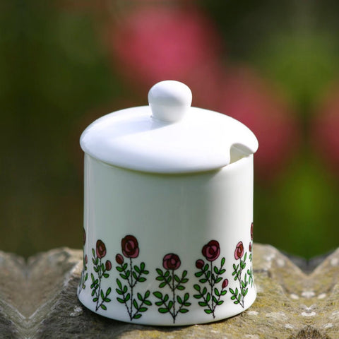 Roses Sugar/Jam Pot with lid