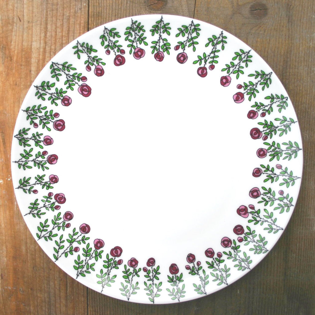 wiggles and florence Roses Plate