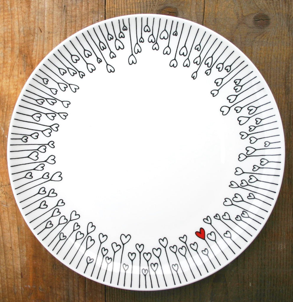 wiggles and florence Hearts Plate