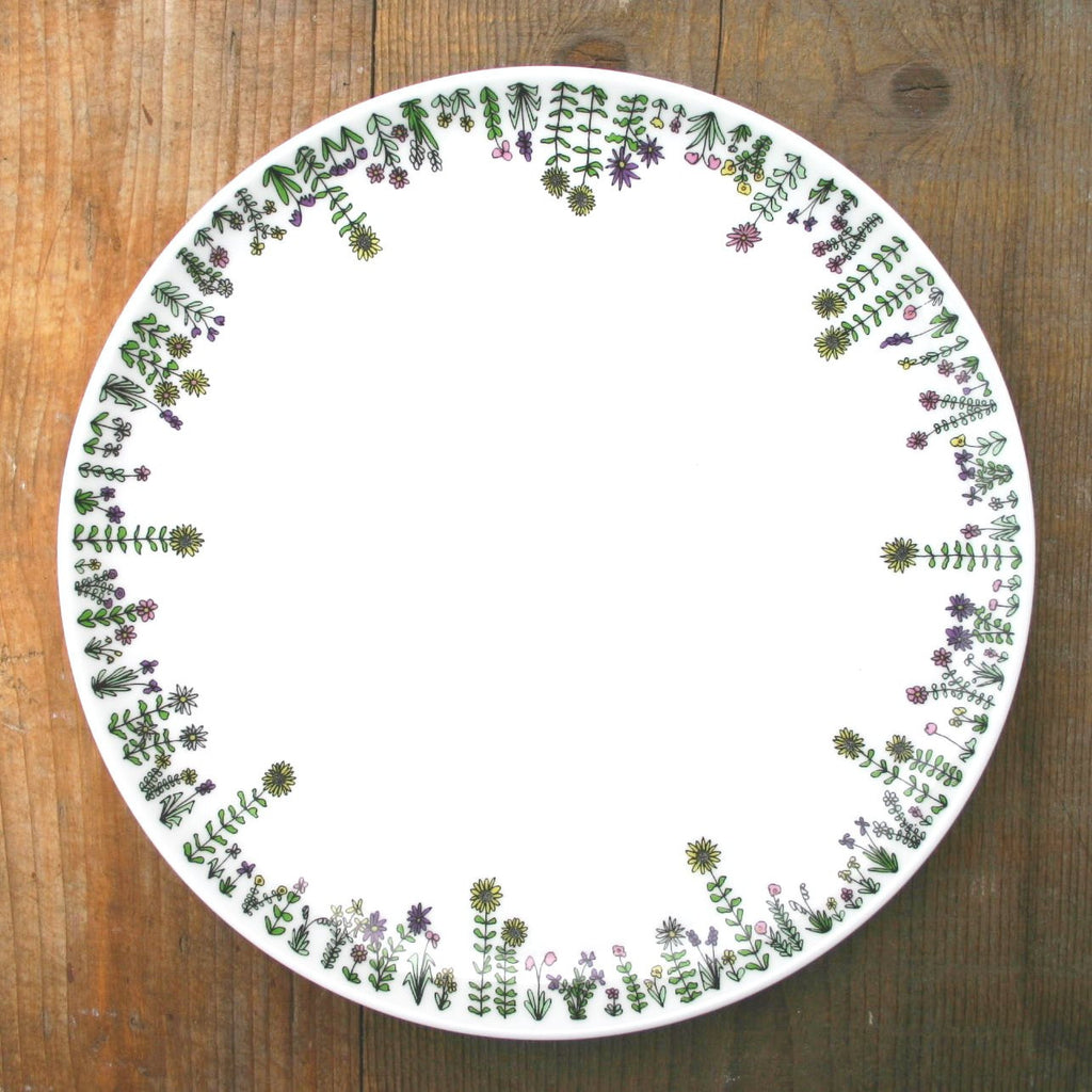 wiggles and florence Flowers Plate