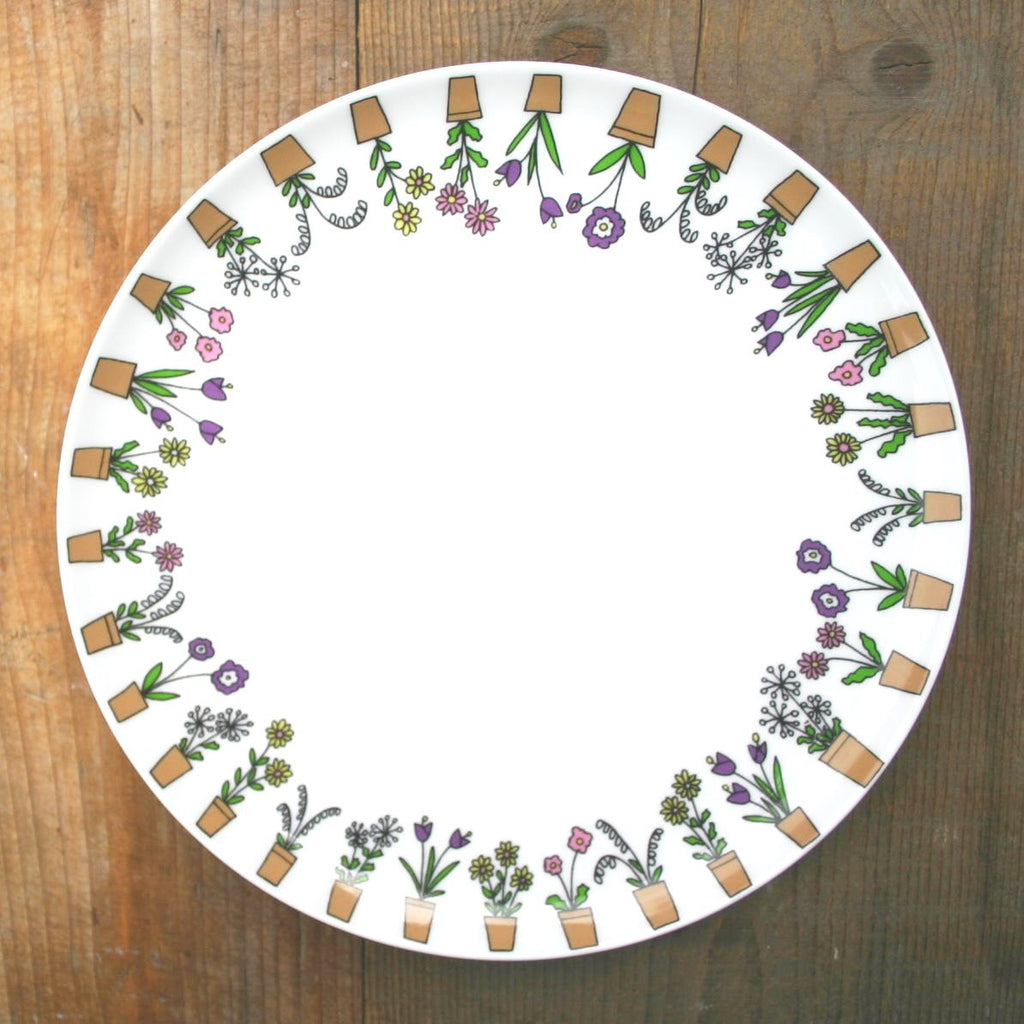wiggles and florence Flower Pots Plate