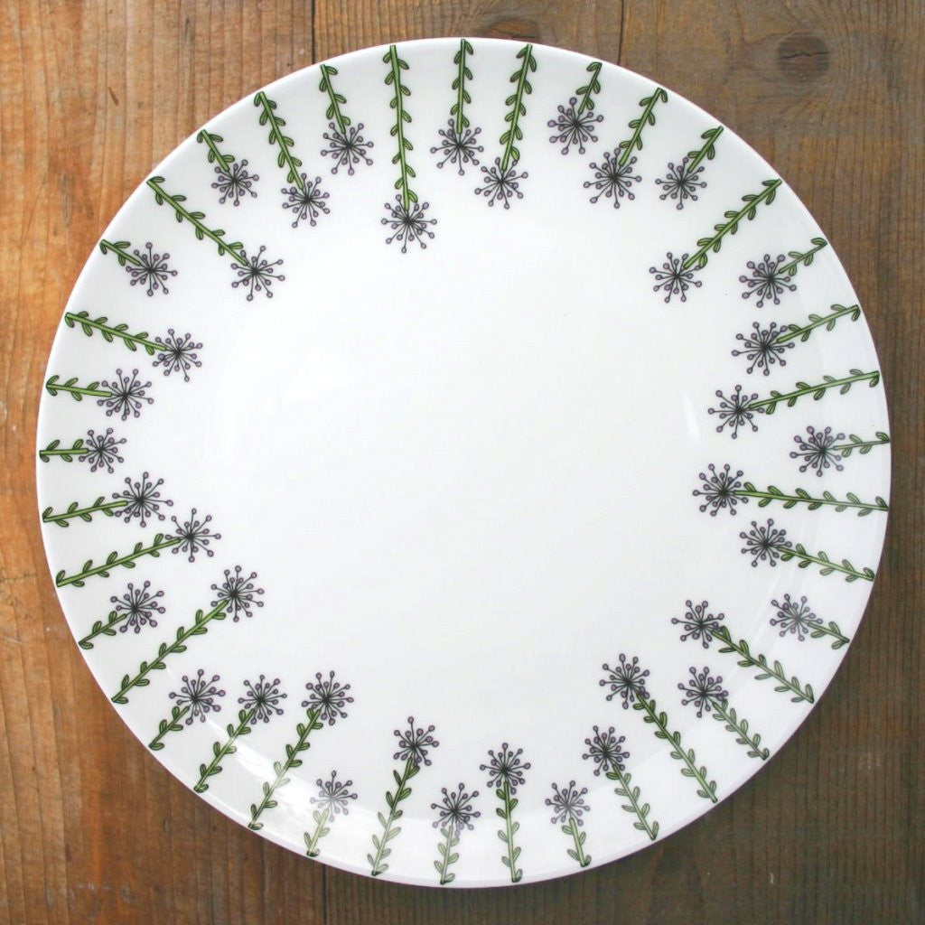 wiggles and florence Alliums Plate