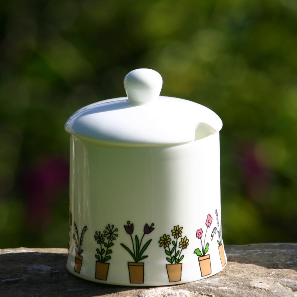 wiggles and florence Flower Pots Sugar Pot