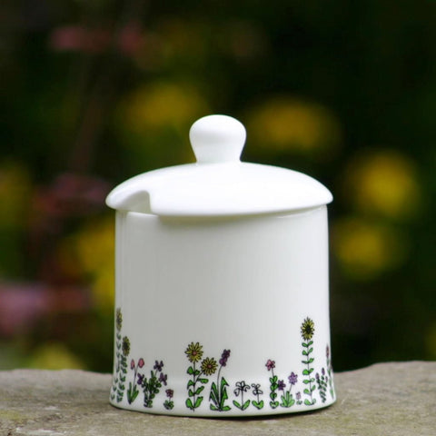 Flowers Sugar/Jam Pot with lid