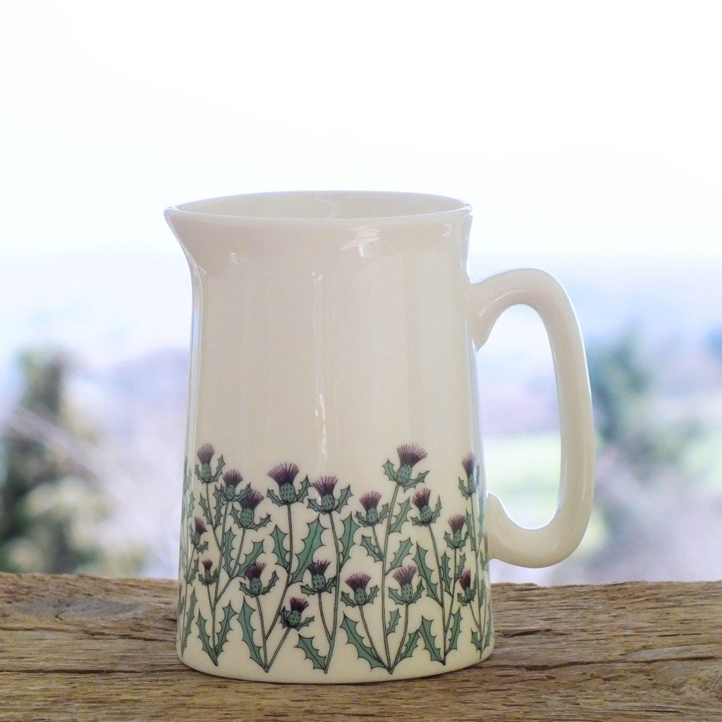 wiggles and florence fine bone china thistles medium Jug