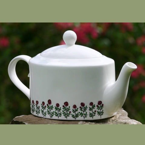 Roses oval Tea Pot