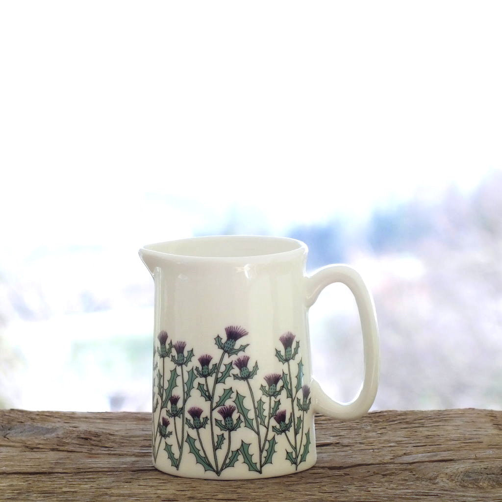 wiggles and florence fine bine china Thistles Jug small