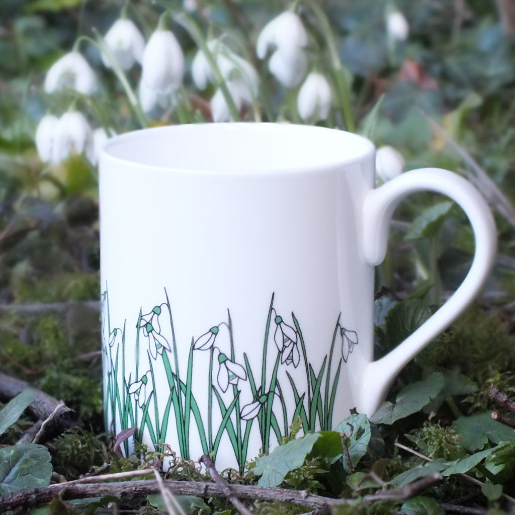 wiggles and florence Snowdrops - white Mug