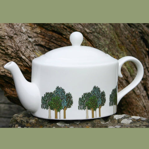 Trees oval Tea Pot