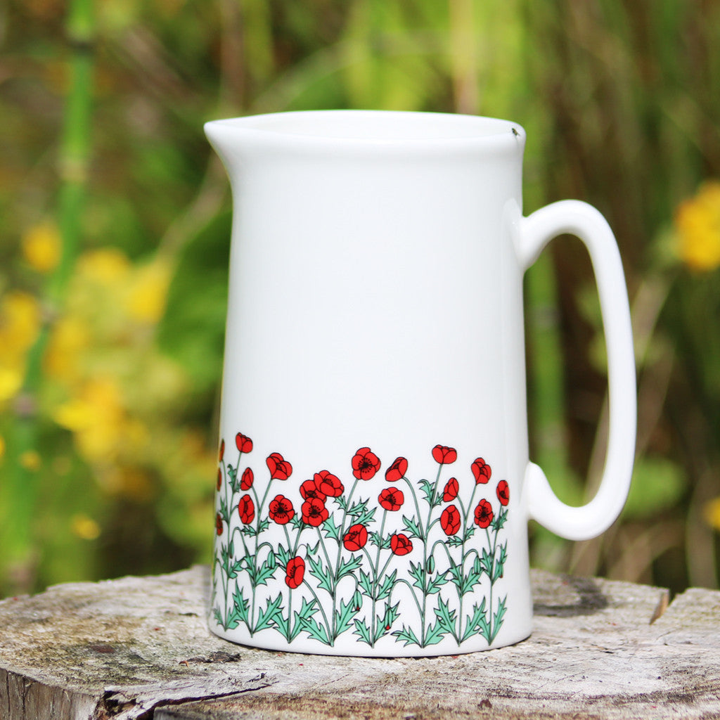 Poppies Jug Lge
