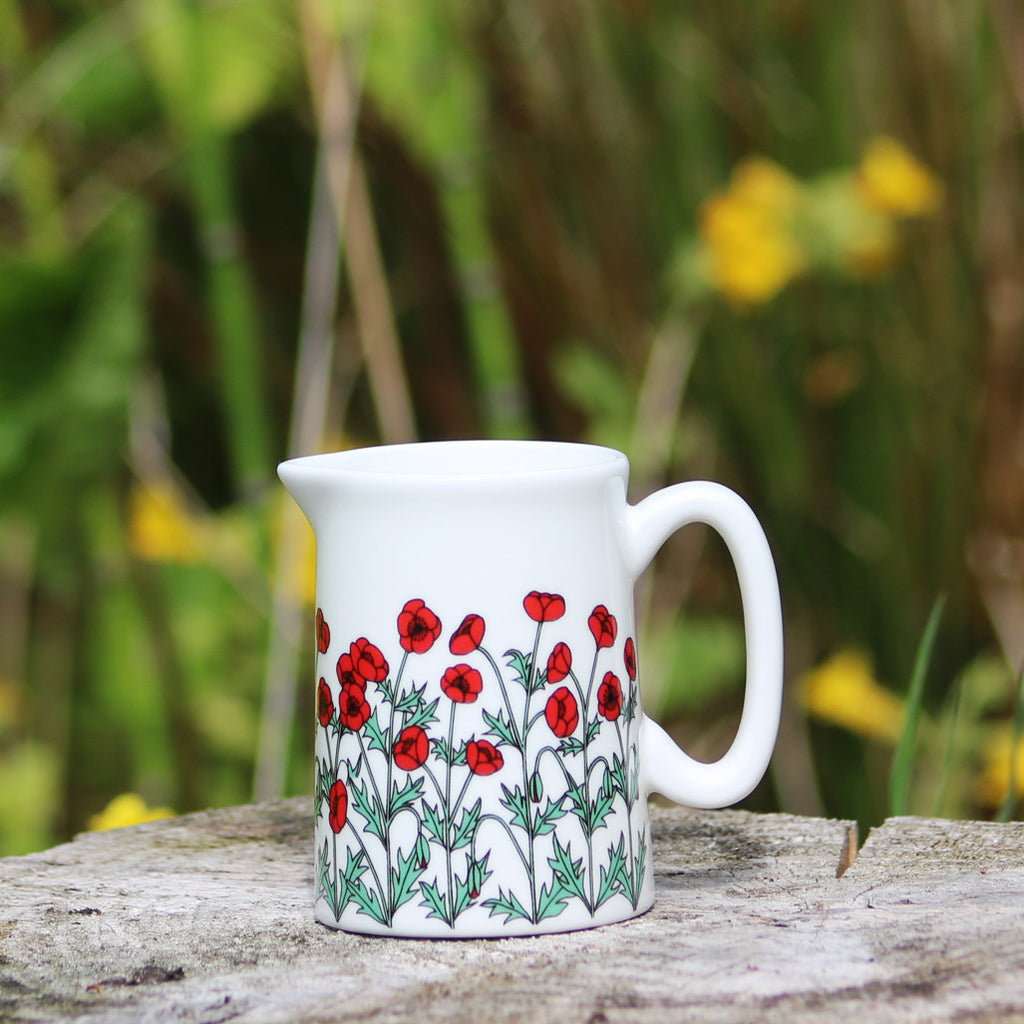 Poppies Jug Sml
