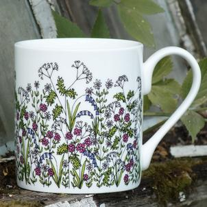 flower pot cup and saucer