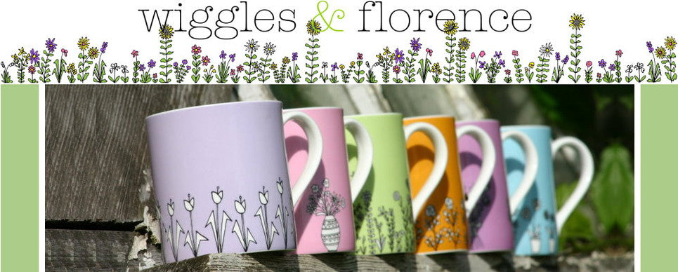 wiggles and florence halcyon coloured mugs