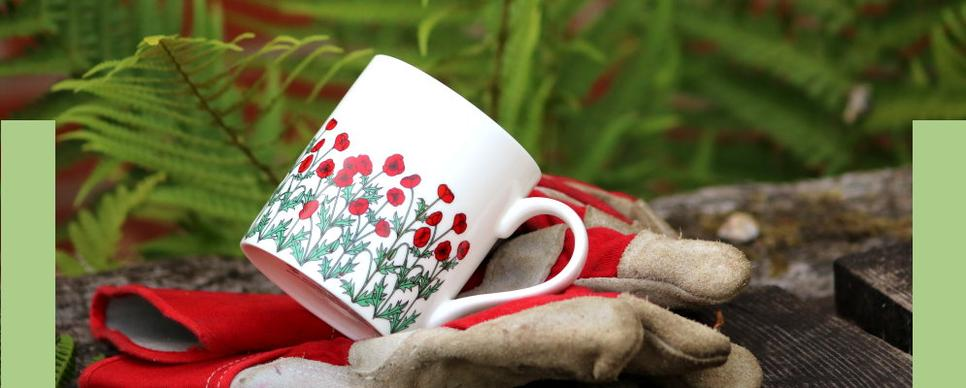 wiggles and florence roses tangerine mug