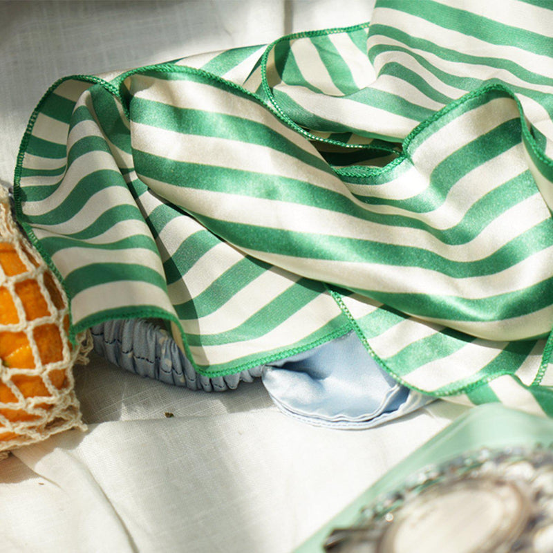 Striped Silk Scarf - Not Just Pajama