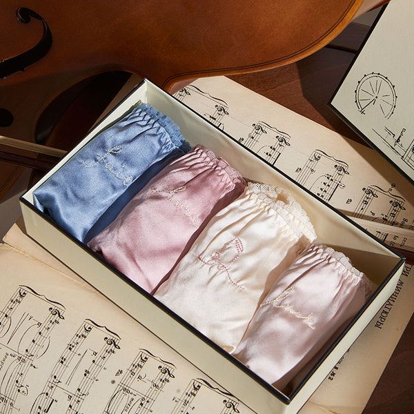 New Silk Underwear 4 Pieces Gift Box - Not Just Pajama
