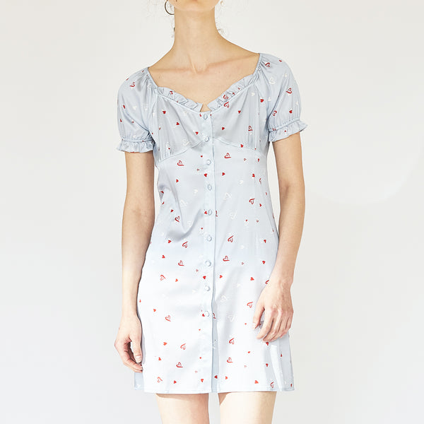 Love Printed Silk Dress - Not Just Pajama