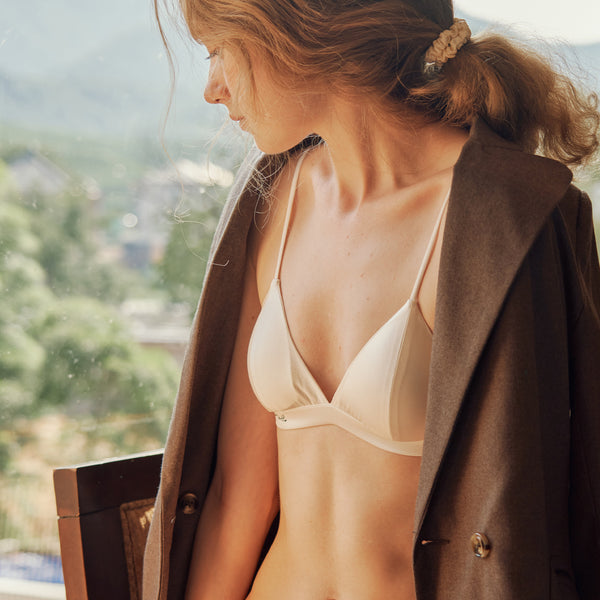 Muse Series | Non-wired Silk Bra - Not Just Pajama