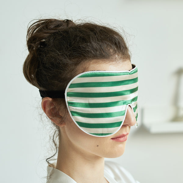 Striped Silk Eye Mask - Not Just Pajama
