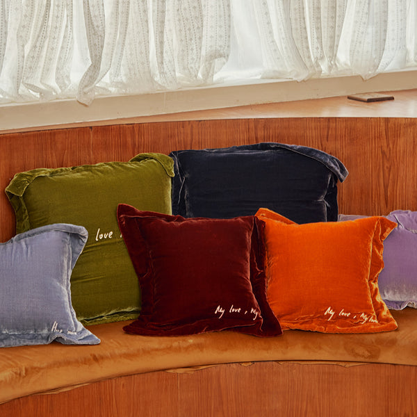 Velvet Silk Square Pillow - Not Just Pajama